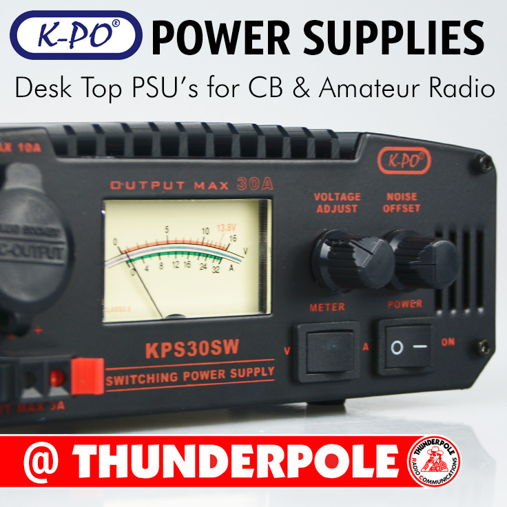 High quality, K-PO Power Supply PSU for CB and Amateur Radio